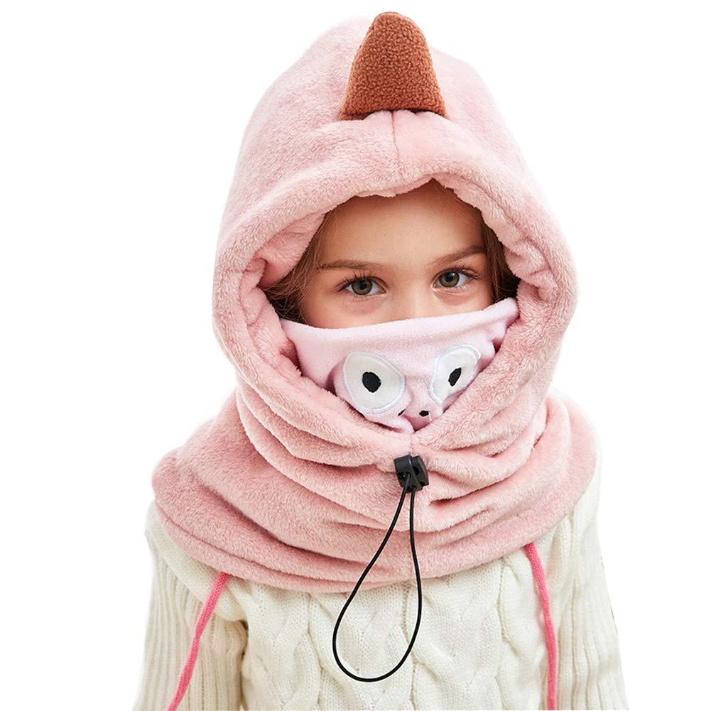 Lazzon Bambino Cappello e Sciarpa Inverno Caldo Animale Maschera Paraorecchie Cappuccio per Infantili Sci allaperto 3-12Anni