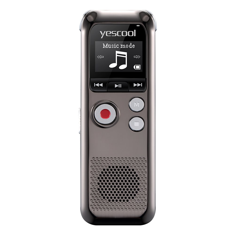 Yescool A60 Professional Digital Voice Recorder Business Dictaphone Long Working Time Remote HD Voice-activated Recording Portable Mini audio pen FM radio Music player