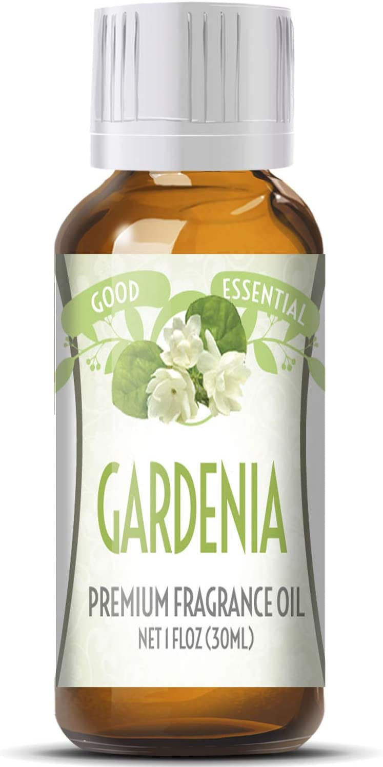 Gardenia Scented Oil by Good Essential (Huge 1oz Bottle - Premium Grade Fragrance Oil) - Perfect for Aromatherapy, Soaps, Candles, Slime, Lotions, and More!