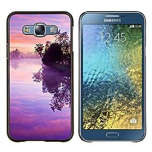 TECHCASE---Cubierta de la caja de protección para la piel dura ** Samsung Galaxy E7 E700 ** --Naturaleza Árbol solo
