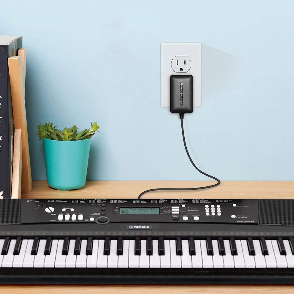 berls Cargador DC 12 V 1500 mA/2000mA alimentación cargador Sector para teclado Yamaha, compatible con todos los modelos de teclado Yamaha y dispositivo de ...