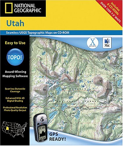 National Geographic TOPO! Utah Map CD-ROM (Mac)