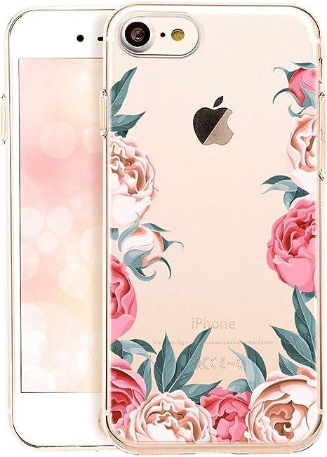 Cover iPhone 7Cover iPhone 8ikasus fiore colorato arte dipinta