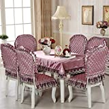 European style Upscale Decoration Restaurant chair vinyl,Fabric Siamese Household Kitchen Hotels Dining Decoration Chair cover 1 pc-B