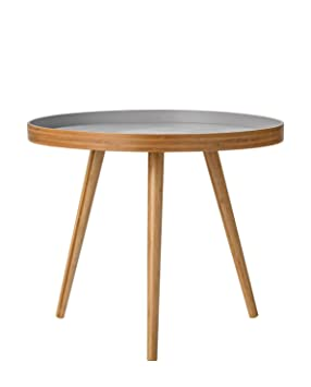 Bloomingville Table basse ronde Grey: Amazon.co.uk: Kitchen & Home