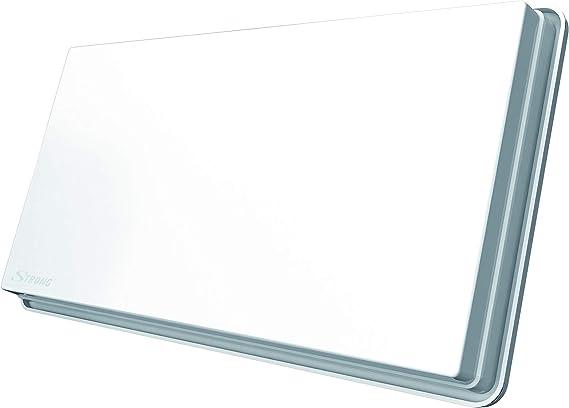 STRONG SlimSat SA 64 Quad Antena Plana satelital [LNB Integrado, Sat, para 4 participantes, Incluyendo Soporte, Antena, Antena parabólica] Blanco