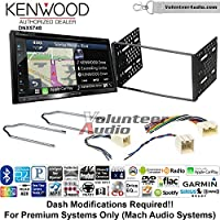 Volunteer Audio Kenwood DNX574S Double Din Radio Install Kit with GPS Navigation Apple CarPlay Android Auto Fits 2001-2004 Escape, 2000-2004 Excursion, 1999-2004 F-150, 2001-2003 Mustang