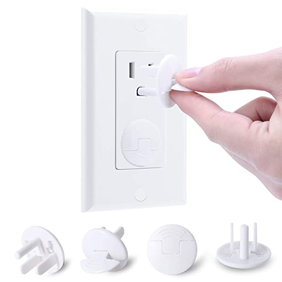 TOYANDONA Outlet Plug Covers Transparent Child Proof Safety Caps Electrical Protector 20pcs Power Socket Cover for Home Children to Remove