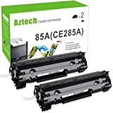 AZTECH 2 Pack 2,500 Pages High Yield Black Compatible Toner Cartridge Replaces HP 85X CE285X CE285 Used For HP LaserJet Pro P1102 P1102W P1100 M1212NF M1217NFW MF3010 M1210 M1132 Printer