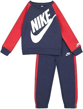 Nike Chandal Infantil Oversized Futura Crew Marino/Rojo 86F563-U90 ...