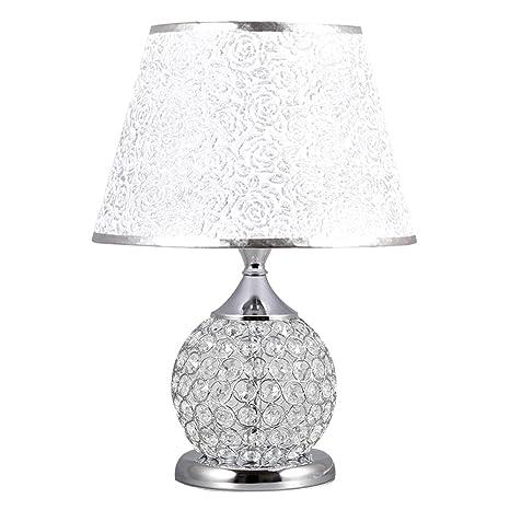 Table lamp Lámpara de Mesa, lámpara de Noche Plateada del ...