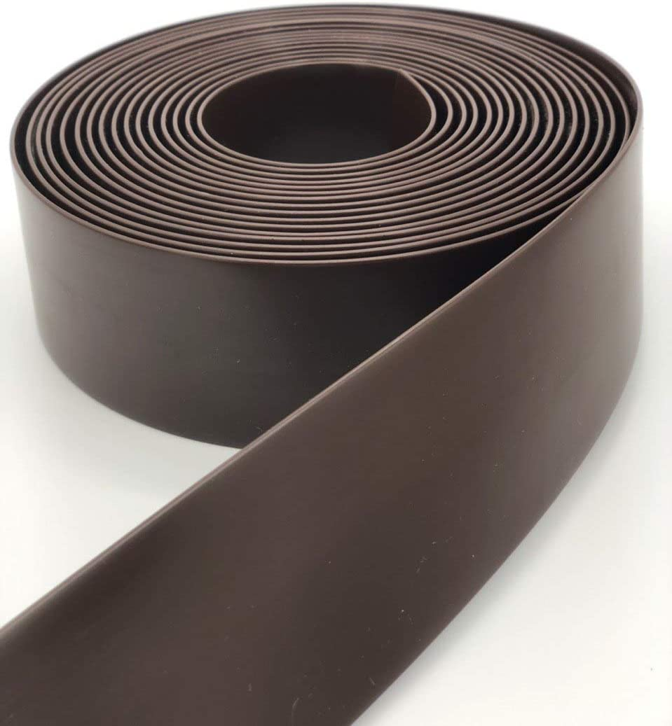 "KOMORAX Dark Brown 2"" Wide 20' Length Chair Vinyl Strap Strapping for Patio Lawn Garden Outdoor Furniture Matte Finish Color"