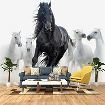 3d Wallpaper Murals Animal Horse Wallpaper Mural Photo Large