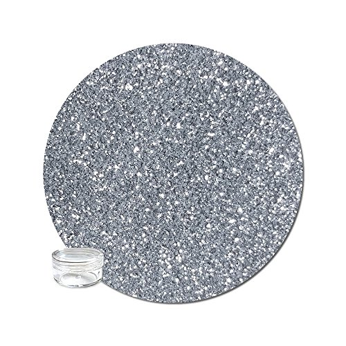 Glitter My World! Ultra Fine Glitter Cosmetic Metallic: Slinky Silver Mini Jar