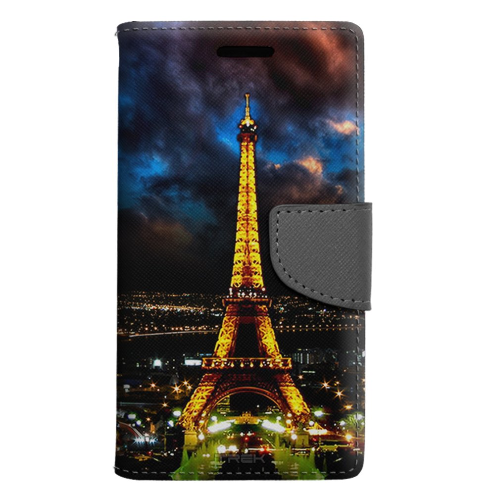 Samsung Galaxy Express Prime Wallet Case - Night Time Paris Eiffel Tower Case