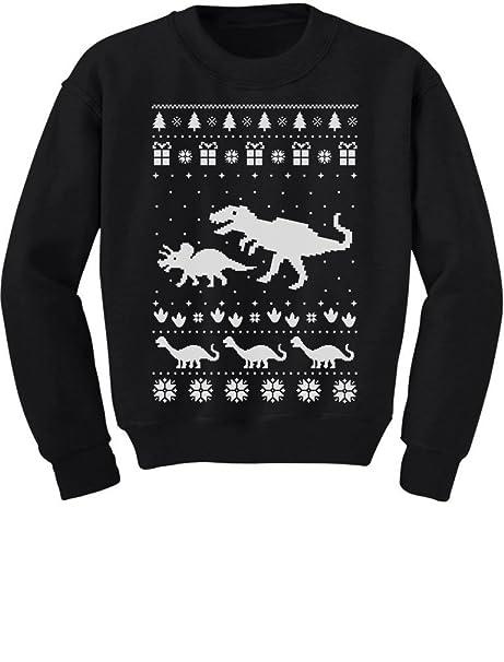 3b2a1853 TeeStars - Dinosaur T-Rex Ugly Christmas Cute Holidays Toddler/Kids  Sweatshirt 2T Black
