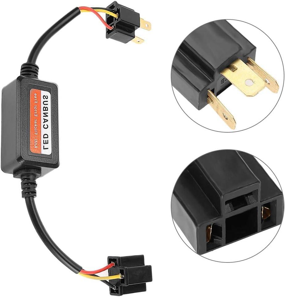 EBTOOLS Decodificatore per fari auto 2 pezzi decodificatore per fari LED ABS Radio Audio Filtro anti-interferenza per cancellazione di errori per H4