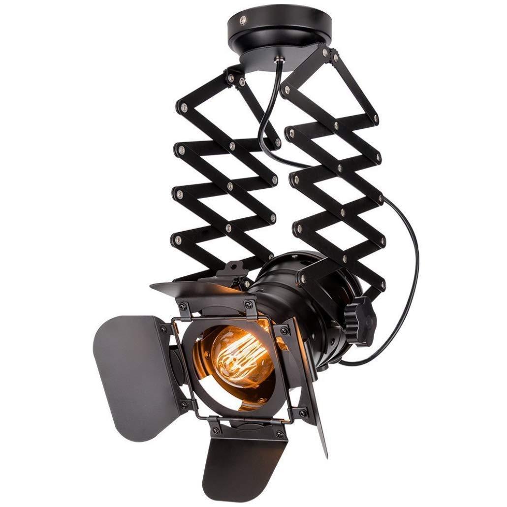 ZLJレトロロフトスタイルシーリングライト、セミフラッシュシーリングライト、メタルケージランプシェードベッドルームクロークリビングルームシーリングランプ、適したE27電球   B07SVWY79G