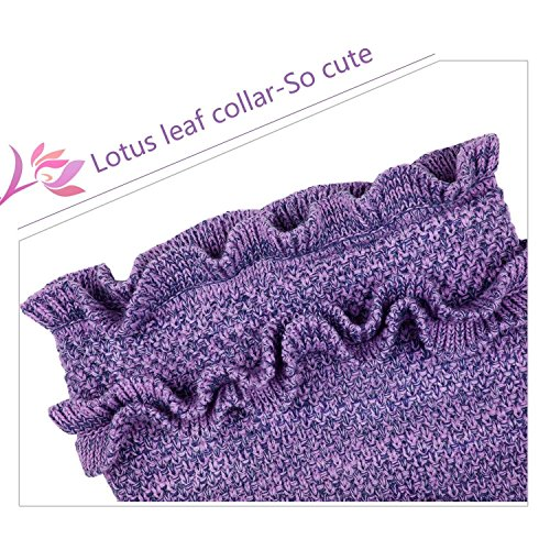 BATTOP Mermaid Tail Knitted Blanket for kids-(Child, Purple)