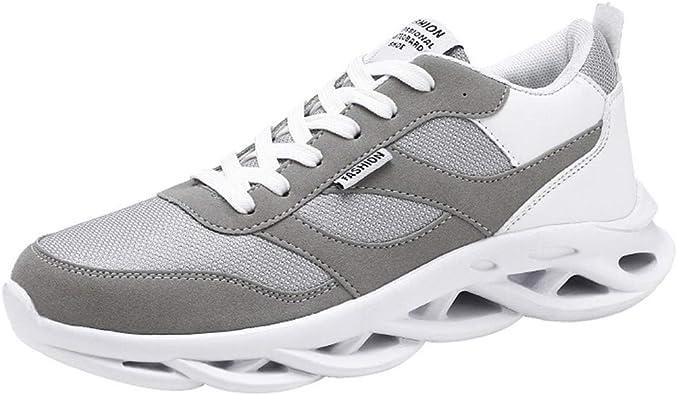 Poamen - Zapatillas Deportivas para Hombre y Mujer, Color Negro, Talla 39 2/3 EU: Amazon.es: Zapatos y complementos