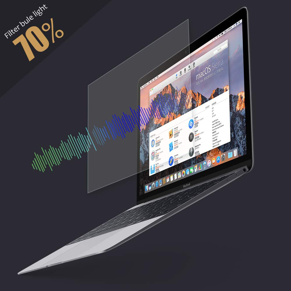 PERFECTSIGHT Tempered Glass Screen Protector for New MacBook Pro 15 inch Touch Bar 2016/2017/2018, 55% Anti Glare Blue Light Filter by PERFECTSIGHT (Image #2)
