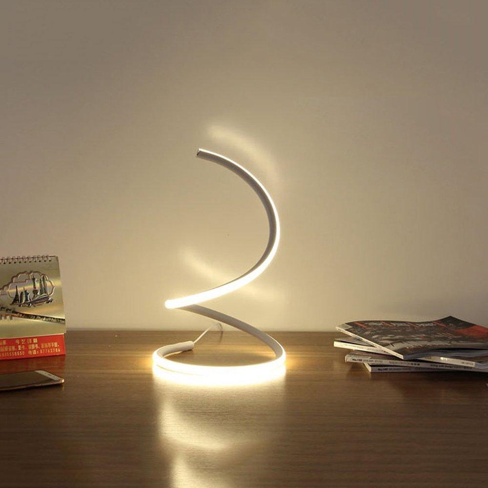 Modeen 40W Lámpara de Mesa LED Espiral lámpara de Escritorio Moderna del LED lámpara de cabecera del Dormitorio acrílico Elegante Sala de Estar del ...