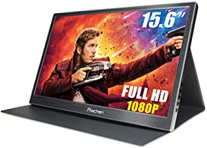 Prechen Portable Monitor, 15.6 inch Full HD 1080P IPS Monitor with Two HDMI Inputs Portable Gaming Monitor External Secondary Display for PC Mac Laptop Phone Nintendo Xbox PS4 PS3 Computer Display