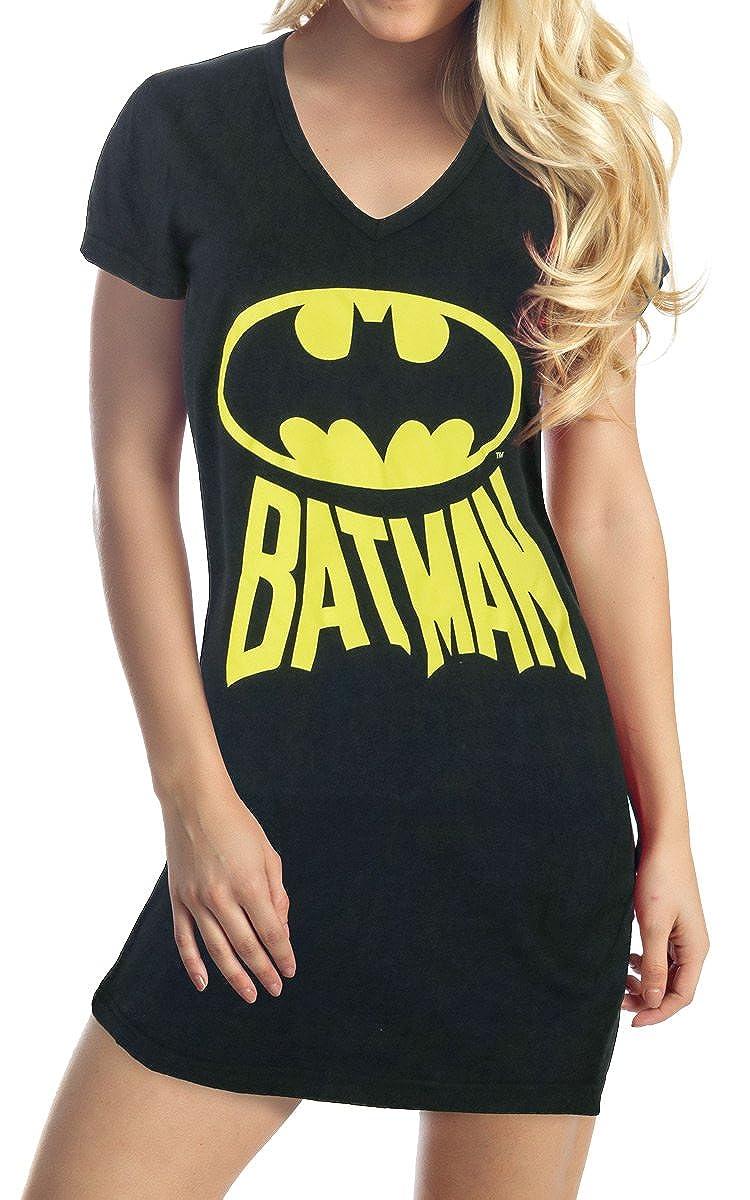 the best attitude c0dee 1a0fa Batman Logo Name V Neck Juniors Tunic Shirt