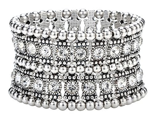 Hiddleston Multilayer 2 Row Jewelry Gothic Stretch Bracelet Sleeve Arm Cuff Rocker Wristband Heavy Metal Bobo Halloween Costume Women Accessory -