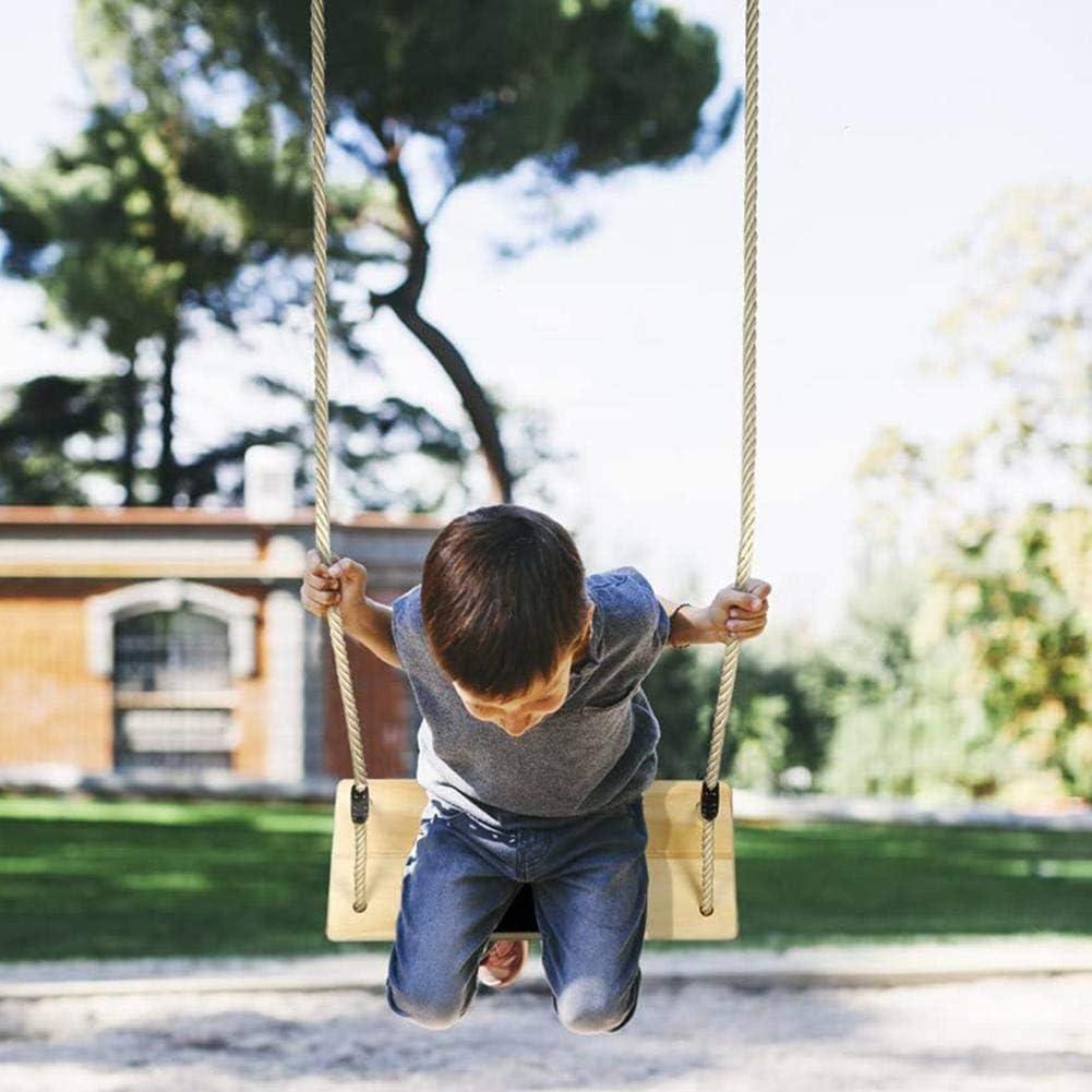 N//H Columpio de /árbol de Madera Asiento de Columpio de Madera Columpio Infantil con Cuerda PE Columpio Exterior para ni/ños Columpio Infantil para ni/ños Asiento de Columpio para ni/ños Adultos.