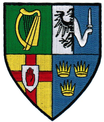 Ireland Provinces Shield Patch Irish Coat of Arms Embroidered Iron-On Flag -