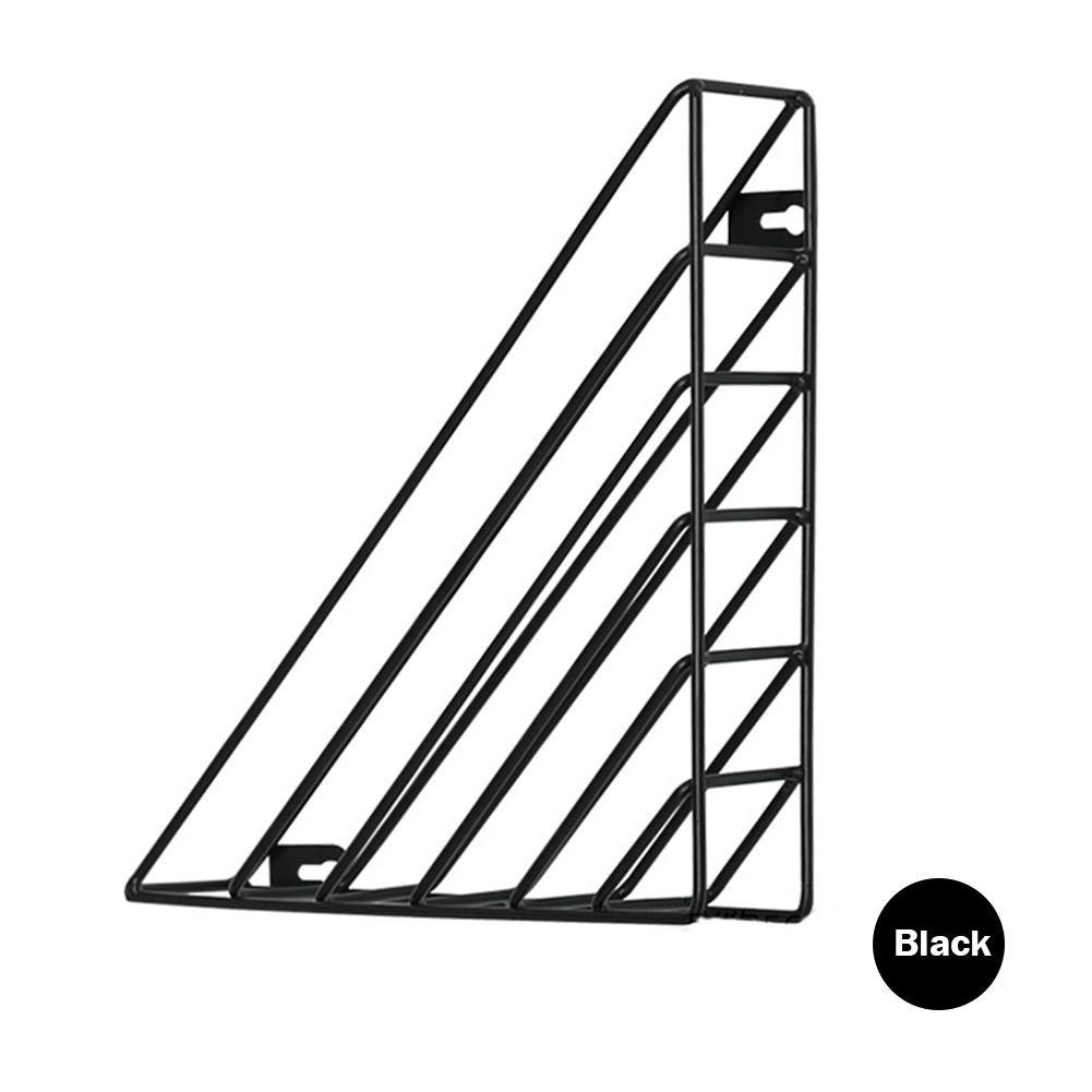Arvin87Lyly Estante del Triángulo De Hierro Arte de Hierro Montaje de pared Estante de Almacenamiento Estante de Escritorio Magazine Rack Bibliotecas Estante de pared Escritorio Oficina Cuarto de Baño