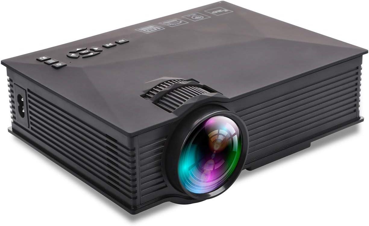 CN-ZX Mini proyector, proyector LED portátil Pocket Pico Projector ...