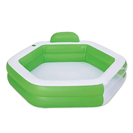 Amazon.com: Piscina familiar Hexagonal hinchable con ...