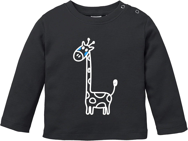 Comedy Shirts Baby Langarm Shirt Rundhals Langarm Basic Print-Shirt 100/% Baumwolle Giraffe