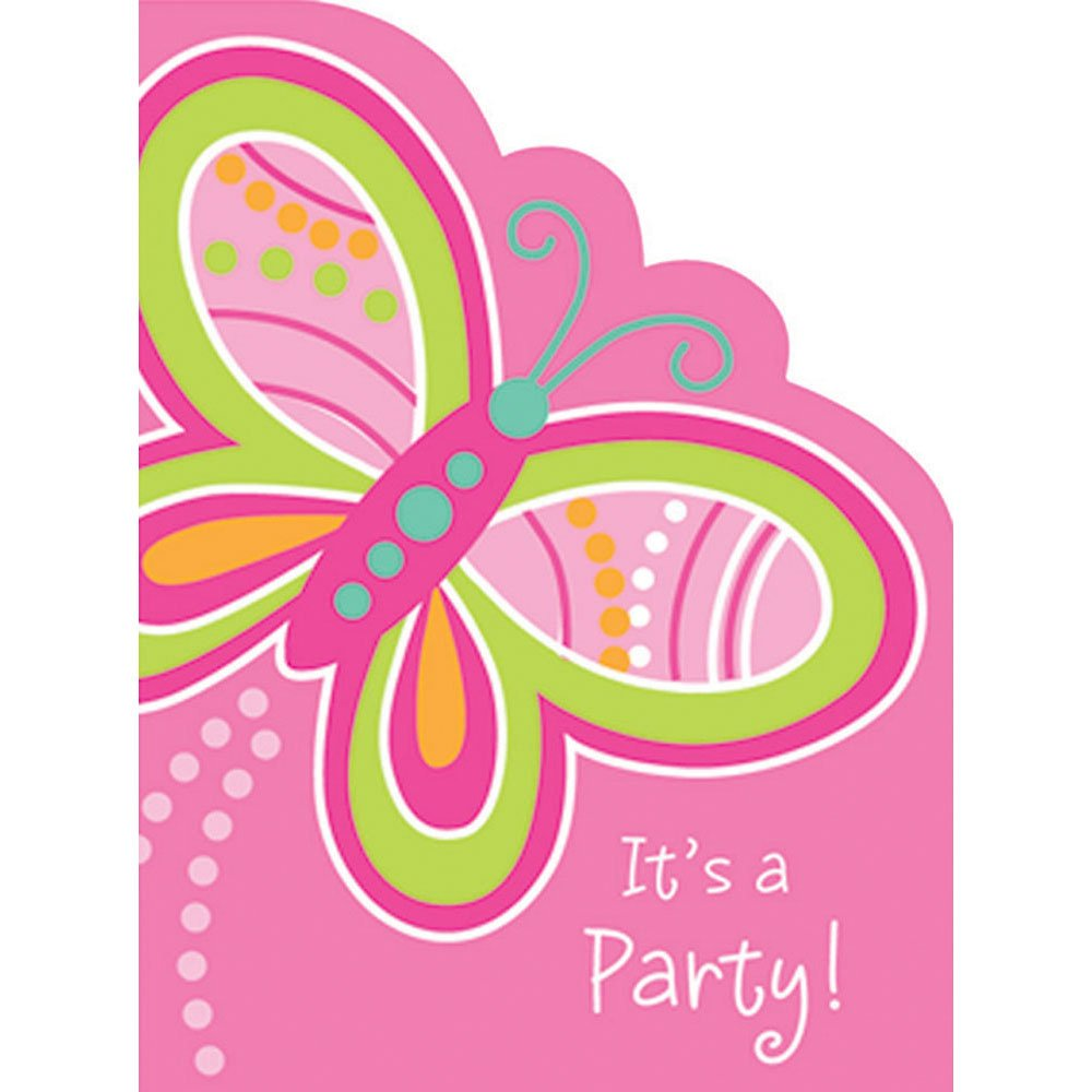 Creative Converting Mod Butterfly Invites 8 ct 89-5806
