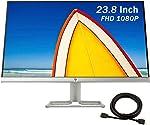 2021 HP 24f 23.8 Inch FHD (1920 x 1080) IPS LED