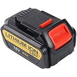 Batteriol 18V 5.0Ah XR Lithium Batterie de Remplacement pour Dewalt DCB184 DCB181 DCB182 DCB183-XJ DCB185 DCB205 N123283 N123282