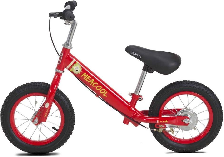 Bicicletas niños Equilibrio Bicicleta de dos ruedas para niños Marco de metal para automóvil sin pedal Bicicleta de 2-6 años Bebé con frenos Neumáticos neumáticos Deportes al aire libre Ejercicio bici