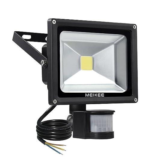34 opinioni per MEIKEE 20W Proiettore LED con Sensore di Movimento, Faretto led esterno bianco