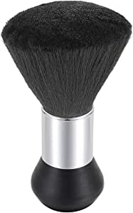 JewelryWe Professional Barber Neck Duster Brush Hair Cutting Kits Hair Salon Hair Removal Brush Broken Hairbrush Haircut Special Cleaning Brush,Black