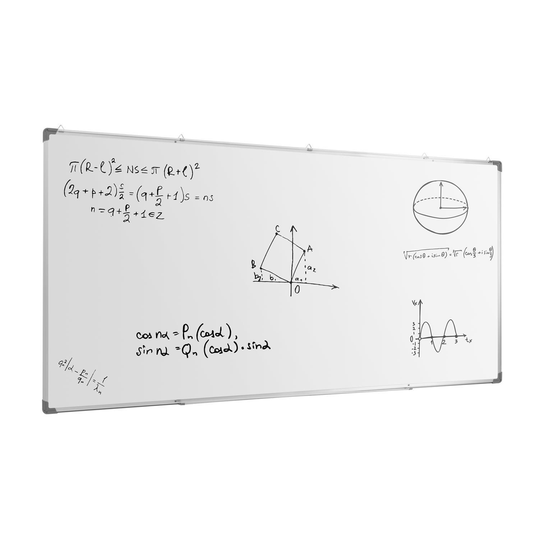 oneConcept Whitus 240 Pizarra blanca magnética (240 x 120cm ...