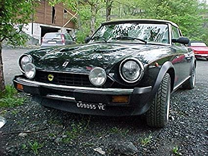 amazon fiat 124 spider coupe bumper grille driving l s kit Yellow Fiat Spider fiat 124 spider coupe bumper grille driving l s kit