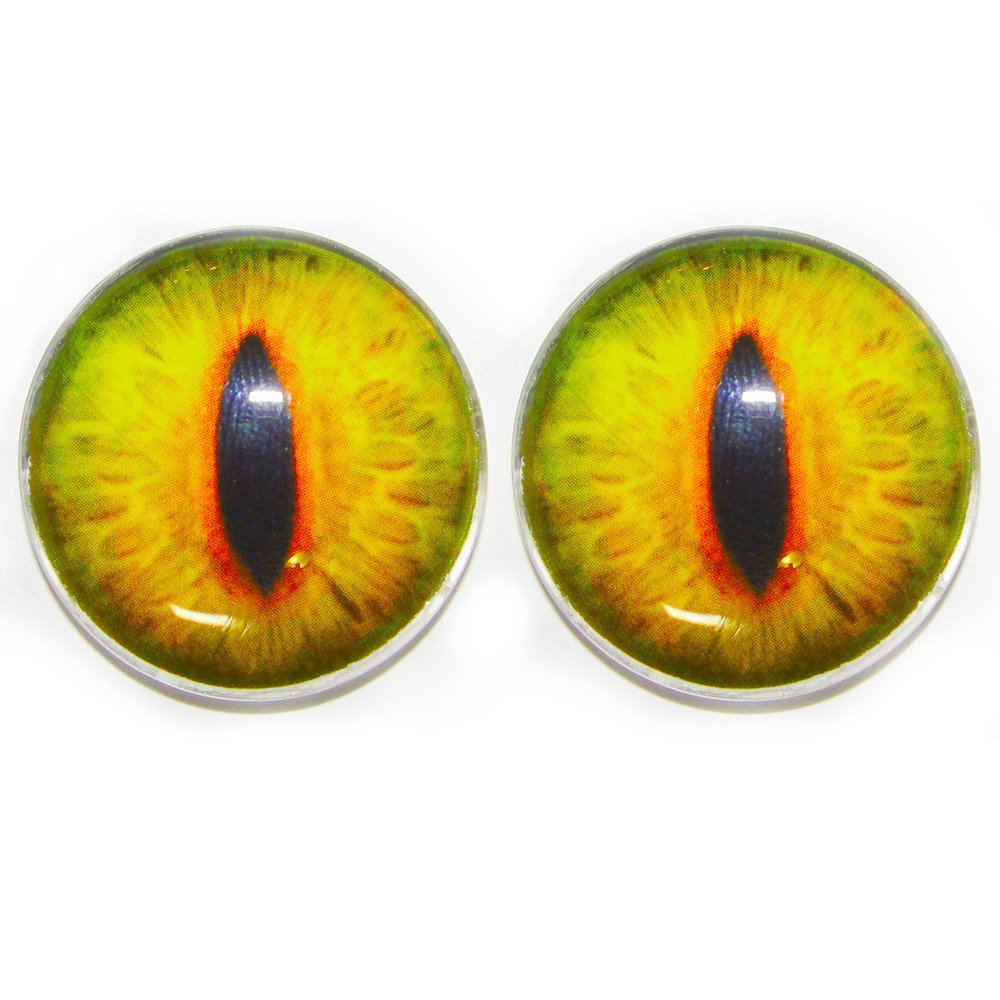 crafting 1pair for Prop Building 25 Mm Glass Eyes Green Goat jewelry