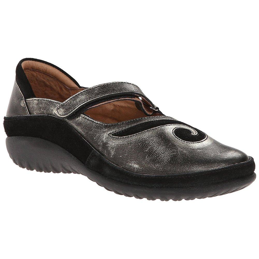 NAOT Matai Koru Women Flats Shoes B01M7T0GT8 41 M EU|Metal Leather/Black Suede