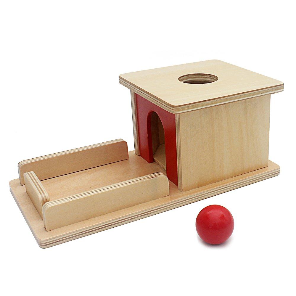 QlL Infant Toys Montessoriマテリアルベビー木製Permanent Goalボックスレッドボール学習教育Preschoolトレーニング   B07CWD7PVG