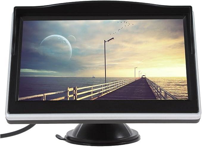 Coche del Monitor de Techo 5.0 Pulgadas a Color TFT LCD de Pantalla de DVD VCD v¨ªdeo PAL/NTSC de Entrada del Sistema de v¨ªdeo: Amazon.es: Electrónica