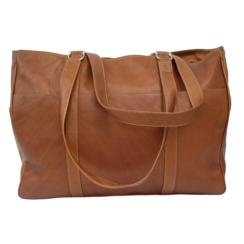 Piel Leather 8746 Large Shopping Bag - Saddle B002ETOCRC