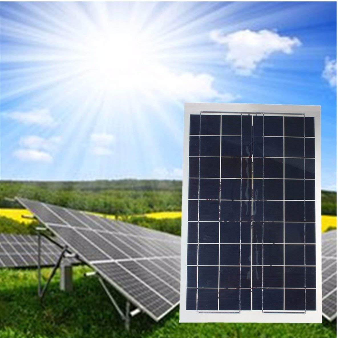 Noradtjcca 30W 12V Flexibles Solarpanel mit Krokodilklemmenkabel Tragbares hocheffizientes Solarpanel f/ür RV-Bootslicht