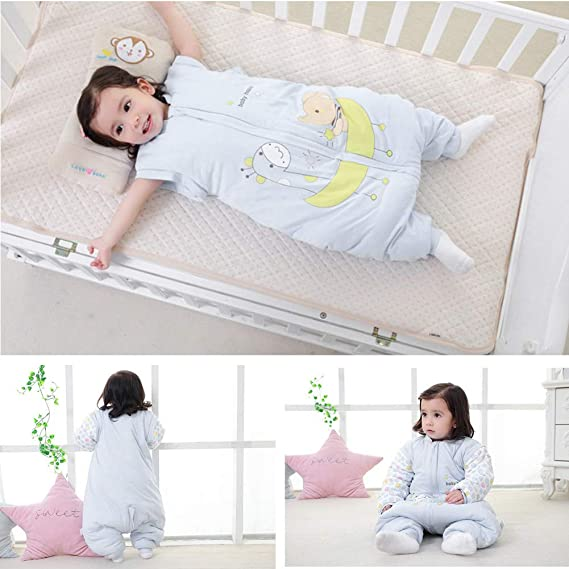 Amazon.com: Comtervi Baby Sleeping Bag with Legs Warm Lined Winter Long Sleeved Winter Sleeping Bag with Feet: Clothing